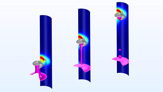Images of a fluid flow model available in the COMSOL Verification and Validation Models web page.