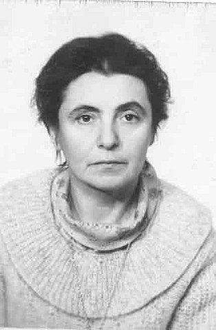 A black-and-white photograph of Olga Ladyzhenskaya.