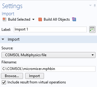 A screenshot of the CAD Import Settings window.