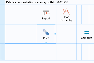 An image of the Inlet selection button for selecting Inlet Boundaries in the simulation app, shown in the Grid mode of the Form Editor.
