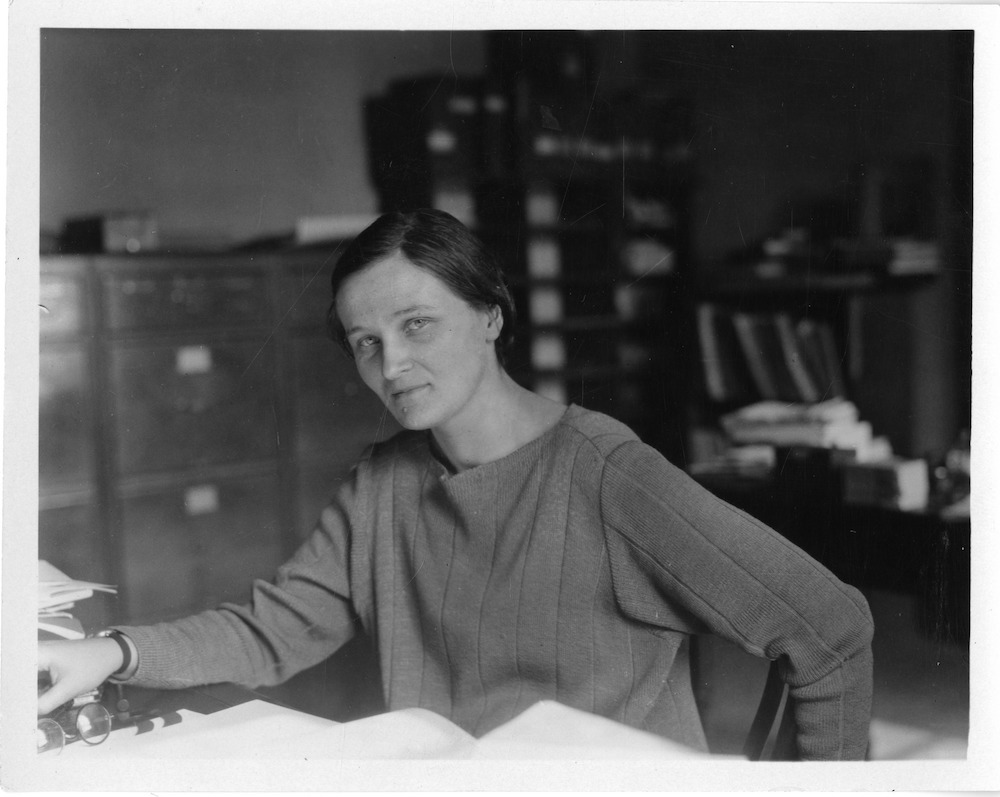 Cecilia Payne-Gaposchkin working at the Harvard College Observatory.