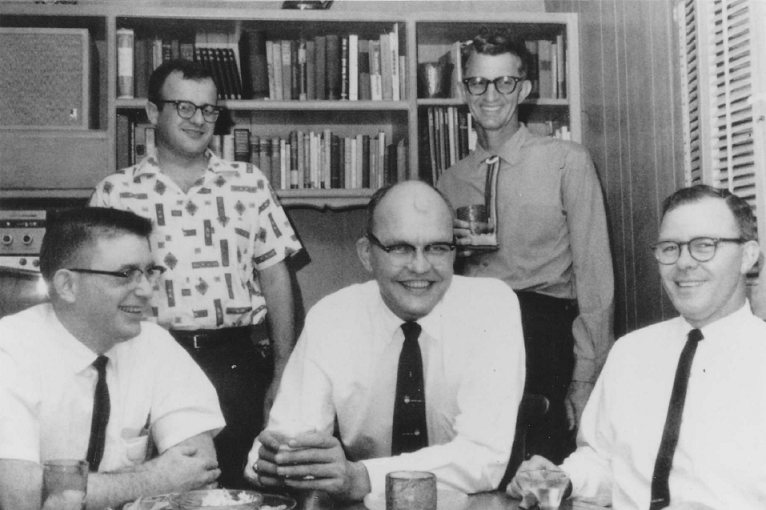 A group of engineers at Texas Instruments in Dallas circa 1960.