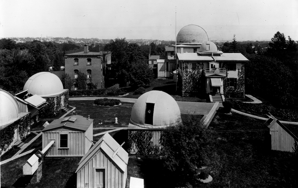 A circa-1899 photo of Harvard College Observatory, where Cecilia Payne-Gaposchkin had a fellowship in astronomy.