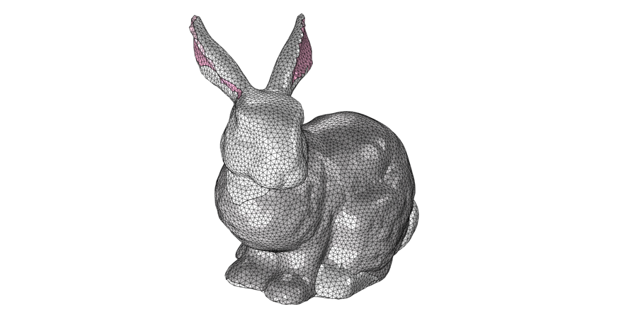 A mesh rendition of the Stanford Bunny.