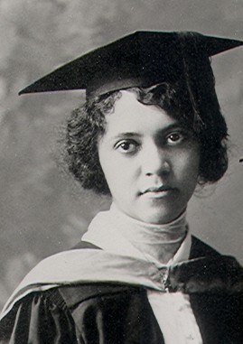 A black-and-white photograph of American chemist Alice Ball.