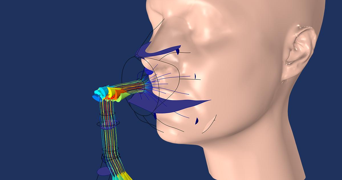 Optimizing an NIV Mask Design with Multiphysics Simulation