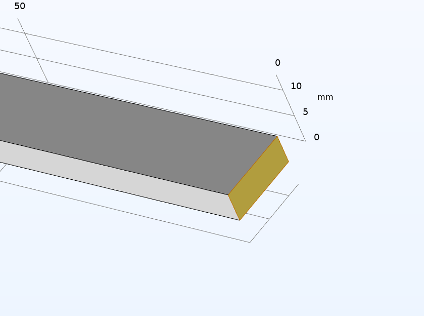 An image of the fixed displacement for the plate end face of the hyperelastic model.