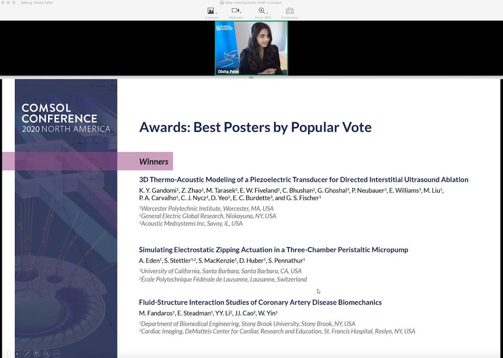 屏幕截图显示COMSOL会议2020程序椅几乎颁发乐动滚球app下载了流行投票的最佳海报。