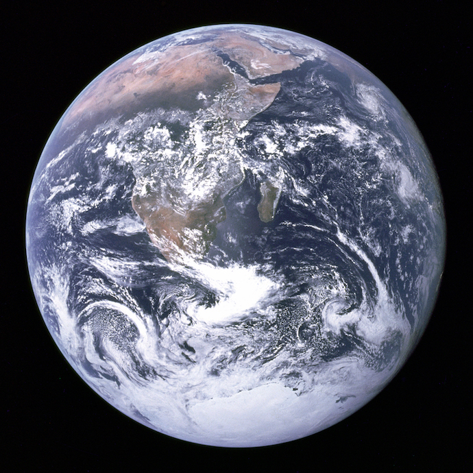 The photograph of Earth famously taken by the Apollo 17 crew.