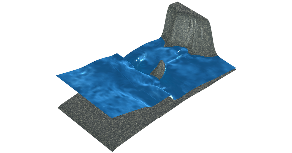 Easily solve shallow water equations problems with a new built-in physics interface.