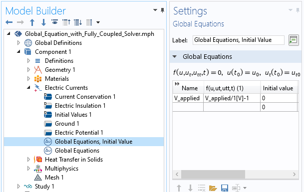 A screenshot of the settings for introducing an additional global equation for goal seeking.