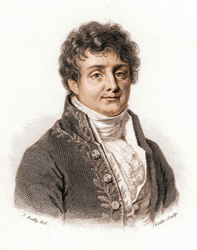 A color portrait of Joseph Fourier.