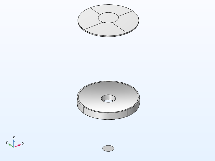 A view of the different Part Instances for telescope designs, here used for the Schmidt–Cassegrain telescope assembly.